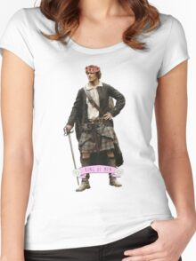 Jamie Fraser Flower Crown Women's Fitted Scoop T-Shirt