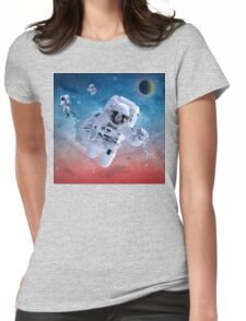 SPACE ASTRONAUT Womens Fitted T-Shirt