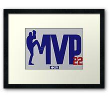 "Clayton Kershaw ""MVP"" Framed Print"
