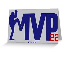 "Clayton Kershaw ""MVP"" Greeting Card"