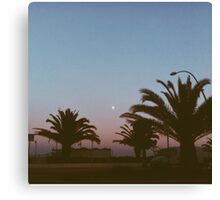Sunset + Moon Canvas Print