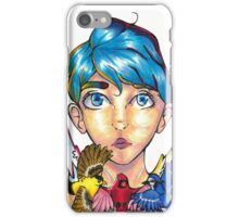 """""""Bird Girl"""" - Primary Colors - phone case, stickers, shirts iPhone Case/Skin"""