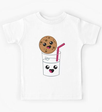 Kawaii Cookie and Milk Kids Tee