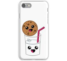 Kawaii Cookie and Milk iPhone Case/Skin