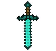 Diamond Sword - Minecraft Photographic Print