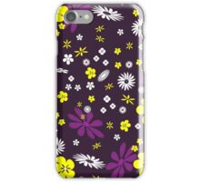 Multi-coloured flowers background iPhone Case/Skin
