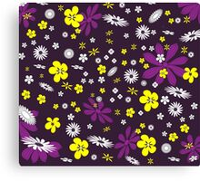 Multi-coloured flowers background Canvas Print