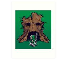 The Groot Deku Tree Art Print