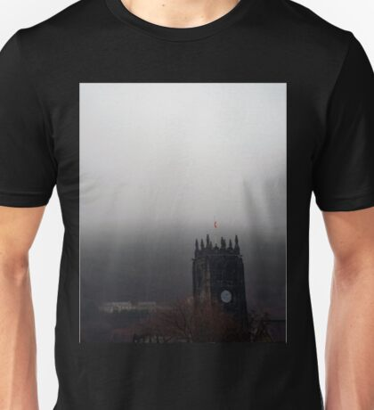 Church tower in the mist  Unisex T-Shirt