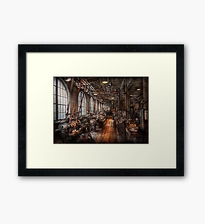 Machinist - A fully functioning machine shop  Framed Print