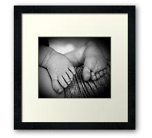 New born baby feet  Framed Print