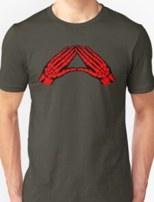 'Hands and Bones' Red Unisex T-Shirt