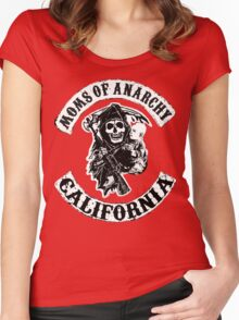 MOMS OF ANARCHY Women's Fitted Scoop T-Shirt