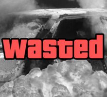 Wasted GTA Sticker