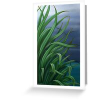 Stormy flax Greeting Card