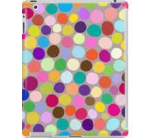 Colorful abstract background with different diameter circles iPad Case/Skin