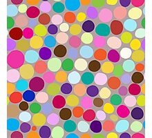 Colorful abstract background with different diameter circles Photographic Print