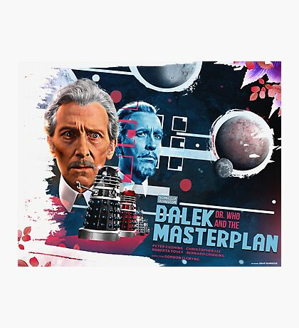 Dr. Who - The Dalek Masterplan - Movie Poster Artwork Photographic Print