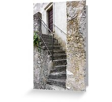 Rustic stones steps  Greeting Card