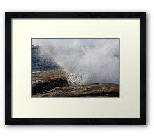 Bicheno Blow Hole. Framed Print