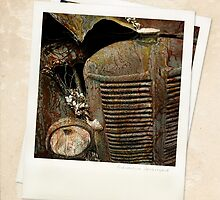 """ Automotive Graveyard ""  ... Polaroid SX-70 ... #2 by Malcolm Heberle"