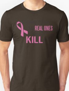 Yes, they're fake. My real ones tried to kill me! T-Shirt