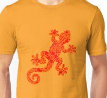 Series - Gekko Collection - Orange Pattern - 121816 Unisex T-Shirt
