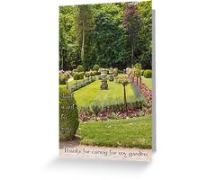 Garden at Chateau de Chenonceau, France Greeting Card