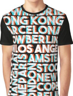 Los Angeles - City names typo graphic Graphic T-Shirt