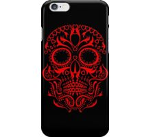 Red Day of The Dead Skull iPhone Case/Skin