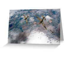 Spitfires swoop Greeting Card