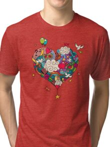 Love Doodle Tri-blend T-Shirt