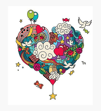 Love Doodle Photographic Print