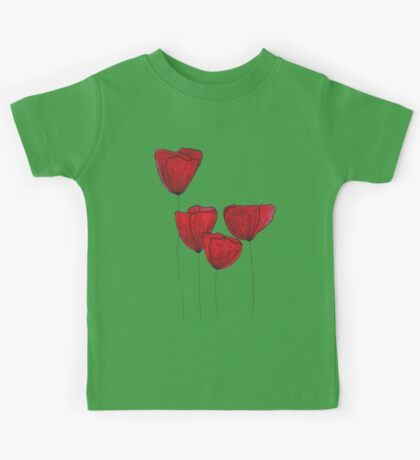 Red red love Kids Tee