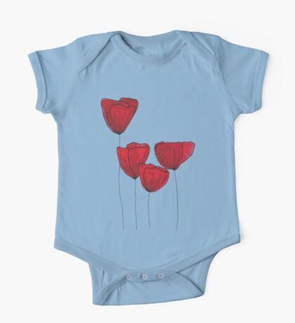 Red red love One Piece - Short Sleeve