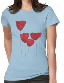 Red red love Womens Fitted T-Shirt