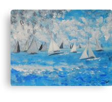 Sailing  to Port Lincoln. Canvas Print