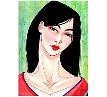 Asian lady Photographic Print