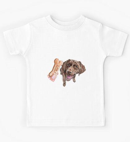 """GOOD DOG"" Chocolate Lab Watercolor Painting Kids Tee"