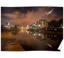 Lemington Wharf By Night Poster
