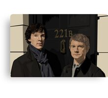 Sherlock and John - 221B Canvas Print