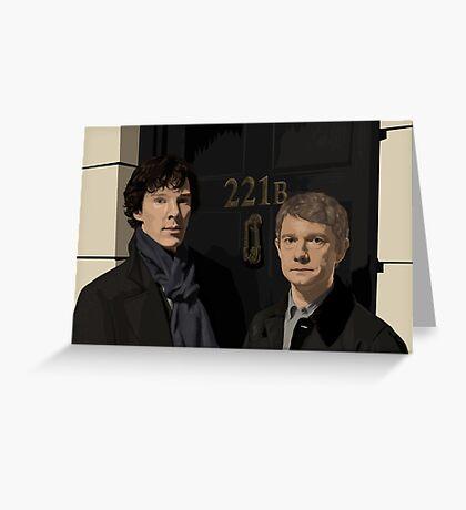 Sherlock and John - 221B Greeting Card