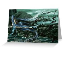 Breezes of Blues for Ravens  Greeting Card