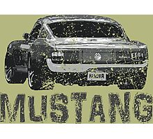 Mustang Muscle Car Photographic Print