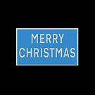 Merry Christmas UK road sign by stuwdamdorp