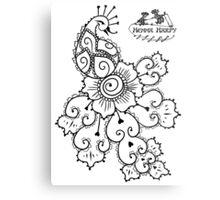Henna Harpy Peacock  Metal Print