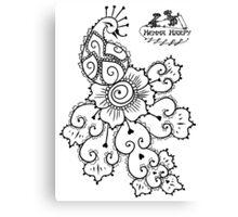Henna Harpy Peacock  Canvas Print