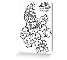 Henna Harpy Peacock  Greeting Card