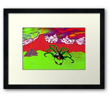 An Example of the Main Intelligent Species on the Exoplanet Araneae Framed Print