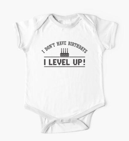 I don't have birthdays - I level up! One Piece - Short Sleeve